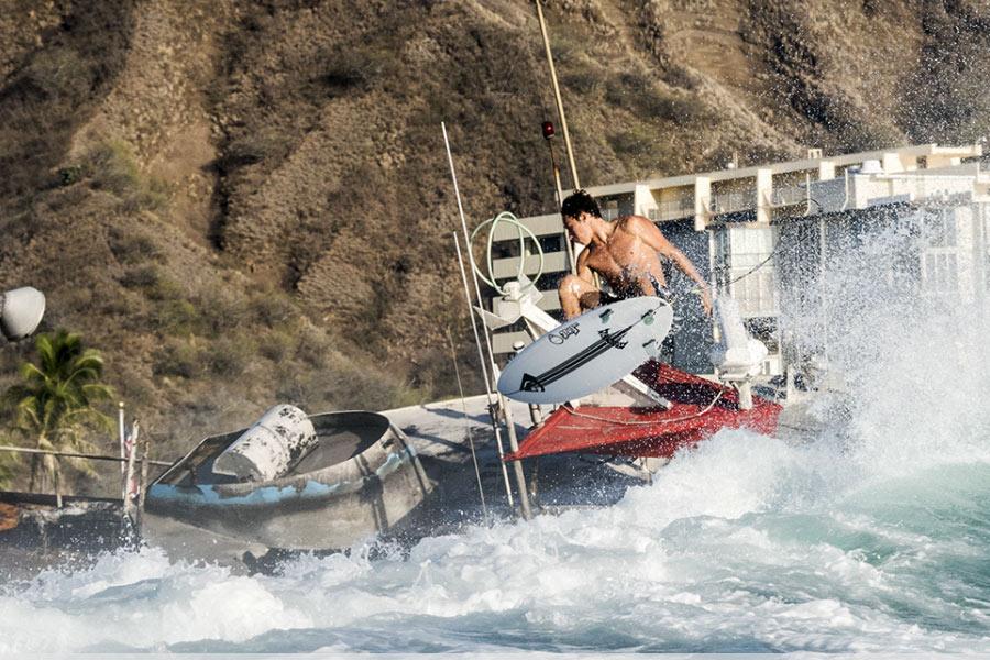 Naufrágio dá origem a novo pico de surf