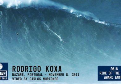 Rodrigo Koxa é finalista no WSL Big Wave Awards
