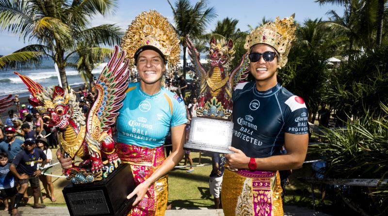 Kanoa Igarashi e Stephanie Gilmore campeões do Bali Protected 2019