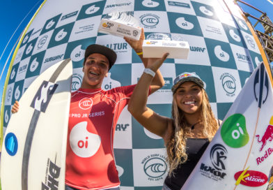 Tainá Hinckel e Eduardo Motta vencem a etapa do Oi Pro Junior Series na Bahia