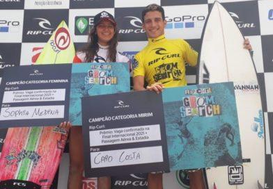 Sophia Medina e Caio Costa dominam novamente o Rip Curl Grom Search