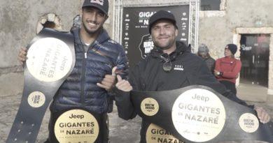 """Lucas Chumbo dá show e vence desafio """"Gigantes de Nazaré 2020"""" ao lado de Ian Cosenza"""