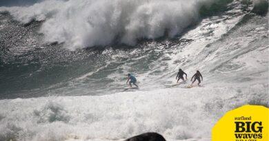 Grande ondulação na costa catarinense movimenta o Prêmio Surfland Big Waves Brasil / Mormaii!