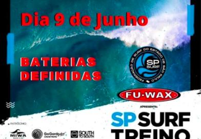 Baterias definidas: SP Surf Treino acontece nesta quarta-feira